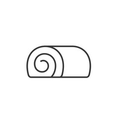 swiss roll in outline icon vector image