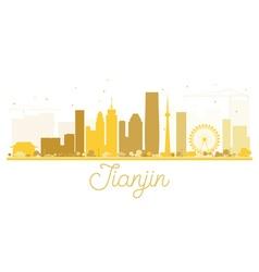 Tianjin City skyline golden silhouette vector