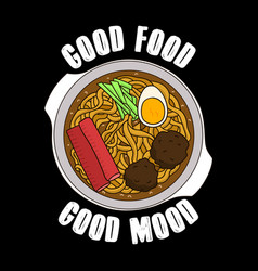 trendy food quote and slogan good for print vector image