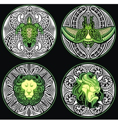 Tribal Amulets vector image