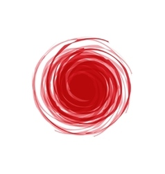twisted spiral abstract of red vector image