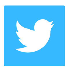 Twitter default logo icon vector