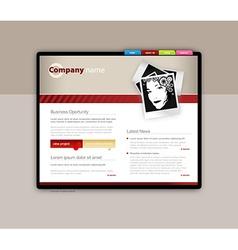 Website template art vector