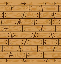 Wood wall cartoon seamless pattern vector