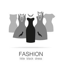 black dress set vector image