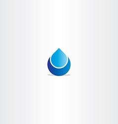 blue logo drop water icon sign vector image