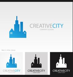 building creative logo vector image vector image