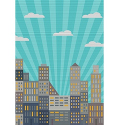 City in retro style vector image vector image