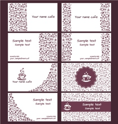 Coffee business card 2 vector