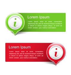 Information banners vector