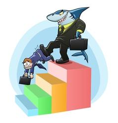 monopoly shark vector image vector image