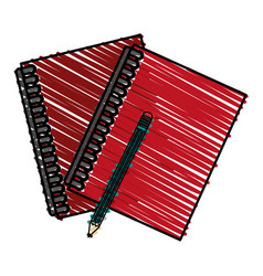 pencil notebooks front vector image