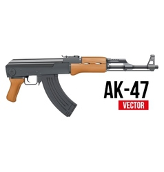 Russian automatic machine rifle AK47 vector image vector image