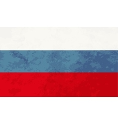 True proportions Russia flag with texture vector image