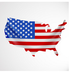 usa flag in form of map united states of america vector image