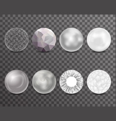 abstract balls burst 3d curl polygonal set symbol vector image vector image