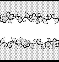 black lace on white background seamless background vector image vector image