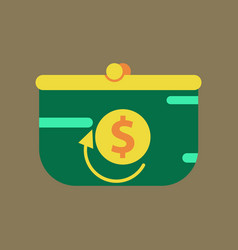 Flat icon of purse discount vector