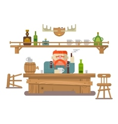 Interior of the bar vector image