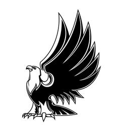 Majestic eagle mascot vector image vector image