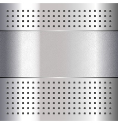 Scratched on chrome metal background 10eps vector image vector image