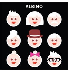 Albino people Albinism icons set vector image vector image