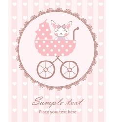 Bunny baby girl in frame vector image