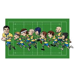 Cartoon rugby team vector image