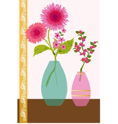 flowers and berries vector image