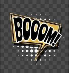 Lettering Boom Gold sparkle comic text vector image