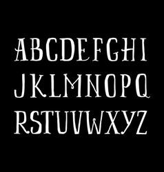 The English alphabet vector image