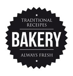 Bakery vintage black stamp vector image