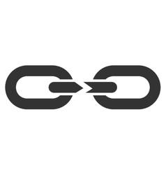Chain Break Flat Icon vector image