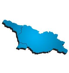 Georgia administrative map vector image vector image