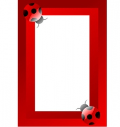 ladybird frame vector image vector image
