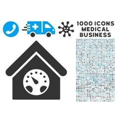 Meter Building Icon with 1000 Medical Business vector image