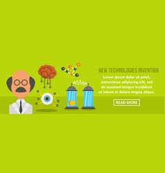 new technologies invention banner horizontal vector image