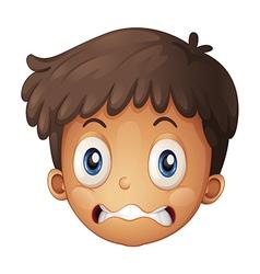A face of boy vector