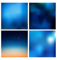 abstract blue blurred background set 4 vector image