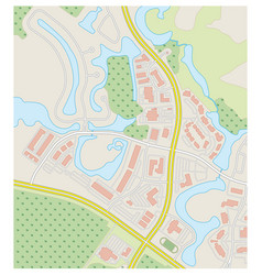 Abstract detailed colored topographic map vector