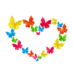 Abstract hand-drawn watercolor butterflies vector