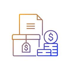 Accounts receivable gradient linear icon vector