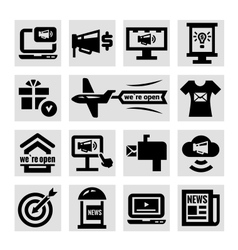 advertising and marketing icons set vector image