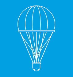 Aerostat icon outline style vector