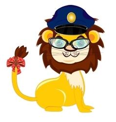 Animal lion police vector image