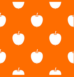 apple pattern seamless vector image