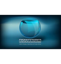 Aquarium and slogan vector