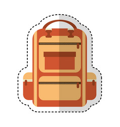 Bag travel camping isolated icon vector