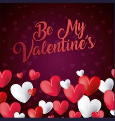 be my valentines card invitation romantic vector image