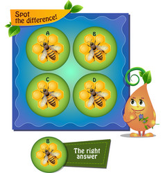 Bee honeycomb difference vector